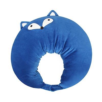 Yvonne Collection狐狸造型多功能抱枕-藍