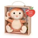 【美國 Apple Park】有機棉玩偶彌月禮盒 - 鞦韆小猴