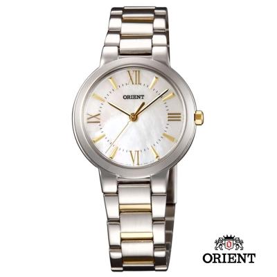 ORIENT 東方錶 DRESS系列 高雅珍珠時尚女錶-珠貝x雙色/30mm