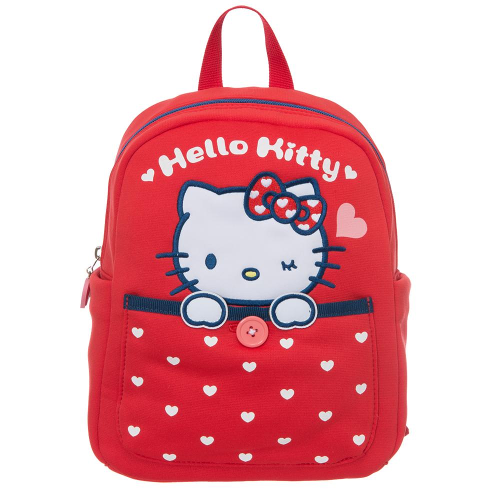 Hello Kitty 我愛凱蒂系列-後背包-紅KT01L01RD