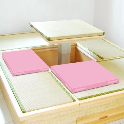 超厚6cm環保PU皮革 和室坐墊 -粉紅2片/組 LOG樂格