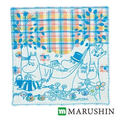 日本丸真 Moomin今治三層紗布方巾-和大家晚餐