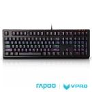 雷柏 RAPOO 機械遊戲鍵盤 - VPRO V510S(青軸)全彩RGB背光防水 黑