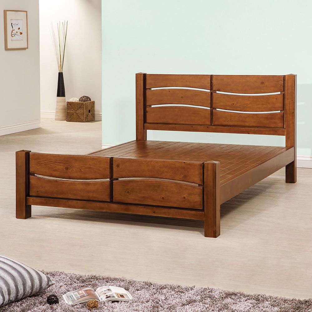 Bernice-凱比6尺實木雙人加大床架 @ Y!購物
