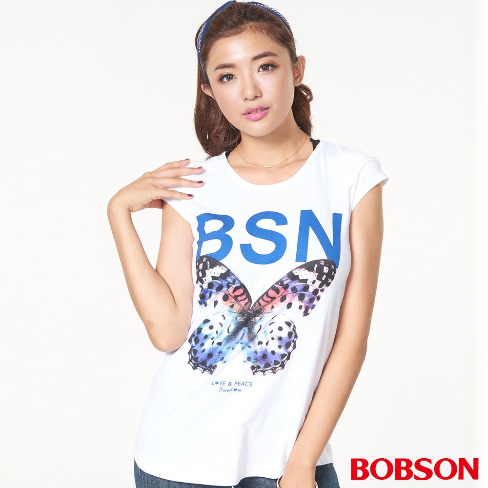 BOBSON 女款印圖上衣