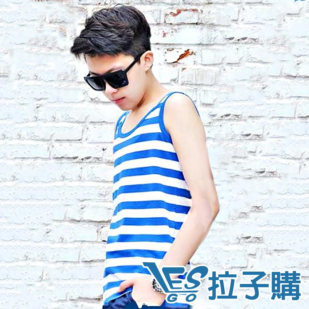 束胸 外穿式條紋掛鈎全身(藍白寬條) LESGO束胸專賣