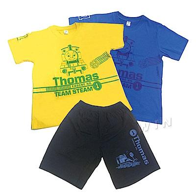 湯瑪士小火車 兒童彩色短袖T恤2件+短褲1件-混色-MIT