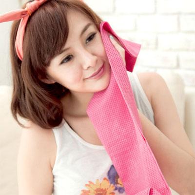 CooFeel-超值2入瞬間涼感多用途冰涼巾領巾-大-粉色
