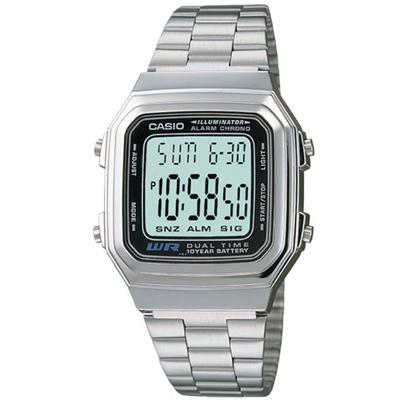CASIO 時尚都會數字錶(A-178WA-1)-32.5mm