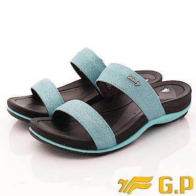 GP時尚涼拖-花漾晶亮拖鞋款-EI538W-21水藍(女段)