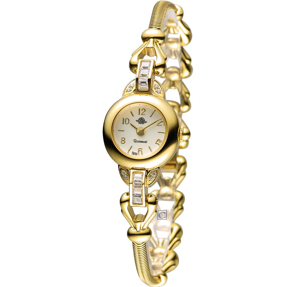 Rosemont 藤蔓玫瑰系列II時尚腕錶-金/18mm TRS-031-01MT