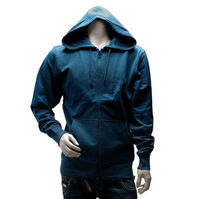 Y-3 adidas山本耀司經典LOGO素面純棉連帽外套(藍)