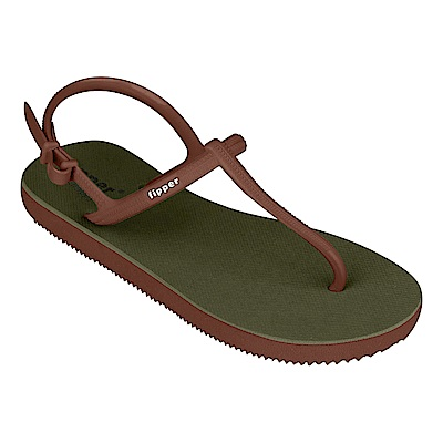 Fipper STRAPPY   GREEN-BROWN
