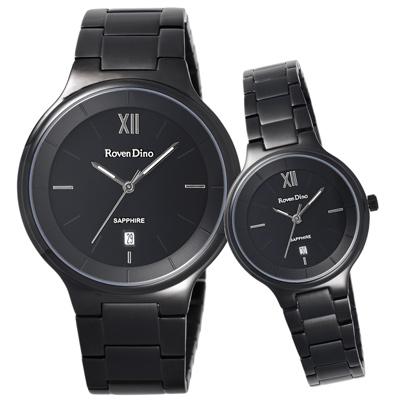 Roven Dino羅梵迪諾 星願聚集時尚對錶-黑X銀-30X39mm
