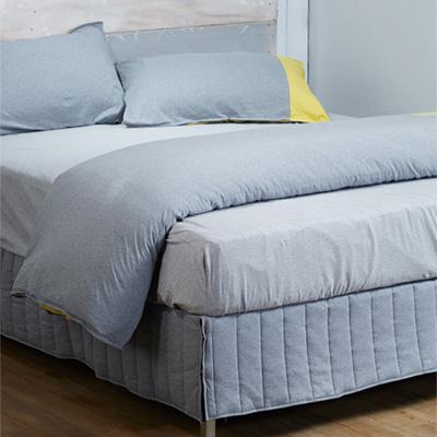 Yvonne Collection雙人素色床裙-灰