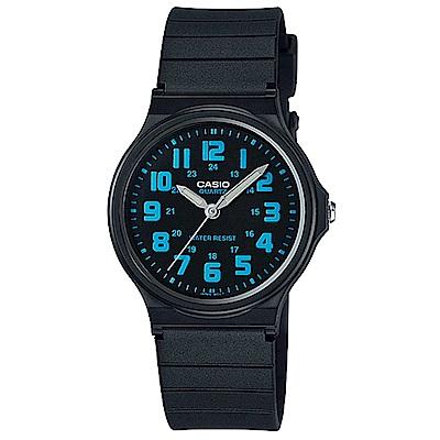 CASIO 簡約時尚魅力指針腕錶(MQ-71-2B)-黑盤藍字/34.9mm