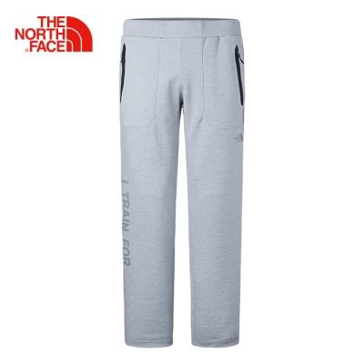 The North Face北面男款灰色舒適防潑水戶外休閒長褲