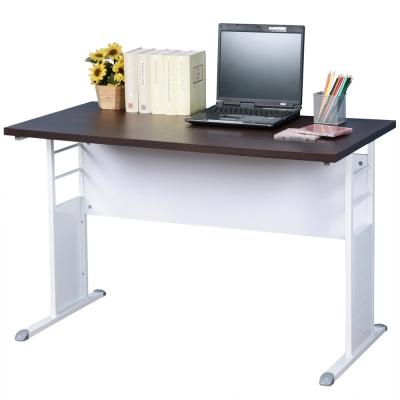 Homelike 巧思120x60辦公桌-胡桃桌面/亮白桌腳