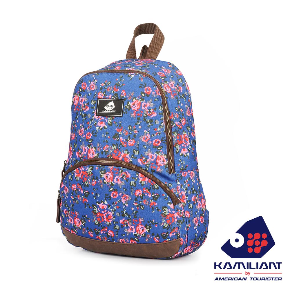 Kamiliant卡米龍 Roxy Medium鄉村風印花後背包(藍印花)