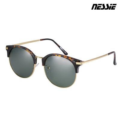 【Nessie尼斯眼鏡】偏光太陽眼鏡-經典眉框-玳瑁