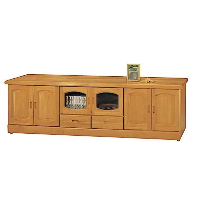 品家居 瑪爾7.1尺赤楊木實木長櫃/電視櫃-211.5x50x64cm免組
