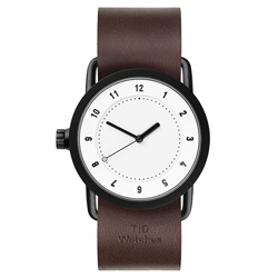 TID Watches No.1 TID-W200-36-WW-黑白X咖啡錶帶/36mm