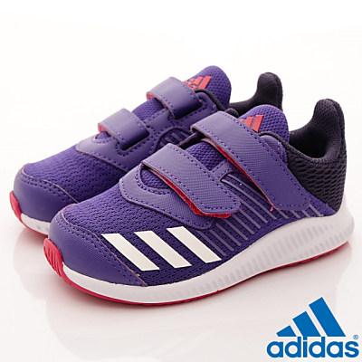 adidas童鞋-輕量休閒慢跑款-EI977紫寶寶段T
