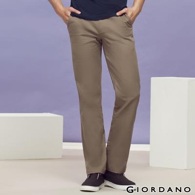 GIORDANO-男裝中腰標準直筒彈性休閒褲-83