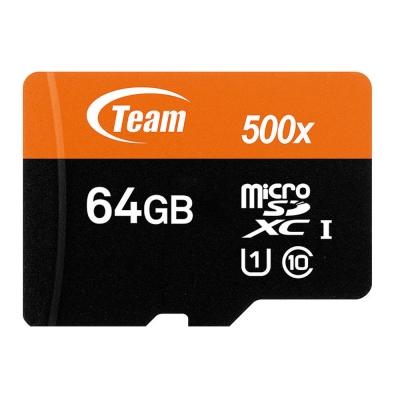 Team 十銓科技 64GB 500X MicroSDXC UHS-I 高速記憶卡