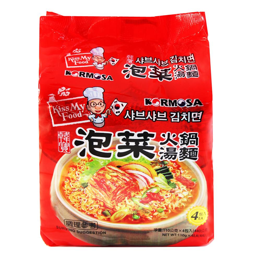 Paldo八道泡菜火鍋湯麵(110gx4入)