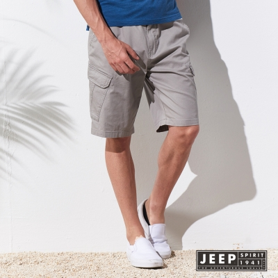 JEEP 輕時尚口袋工作短褲 (灰色)