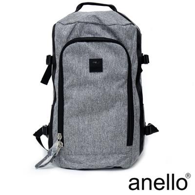 anello 高機能性簡約立體剪裁後背包 灰色