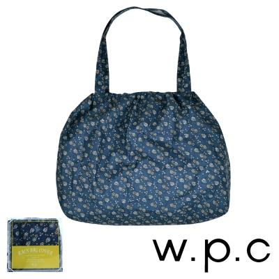 w.p.c 時尚包包的雨衣 束口防雨袋 (藍底小花)