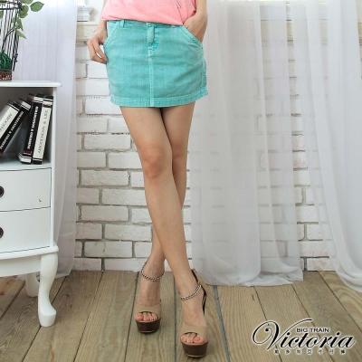 Victoria 天絲棉燙鑽短裙-女-蛋白綠