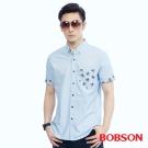 BOBSON  男款印椰子樹襯衫