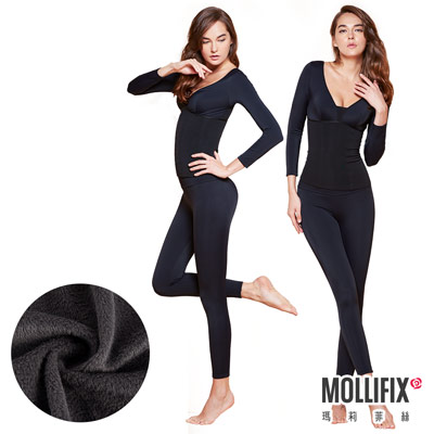 Mollifix瑪莉菲絲 極暖抗寒BABY絨塑身衣褲 成套組