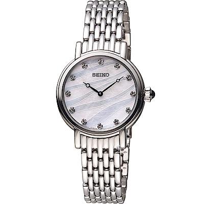 SEIKO 精工 任意依戀時尚腕錶(7N00-0BL0S)銀/30mm
