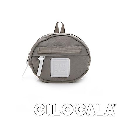 CILOCALA 亮彩尼龍防潑水MINI TAMAGO側背包(迷你)  灰色
