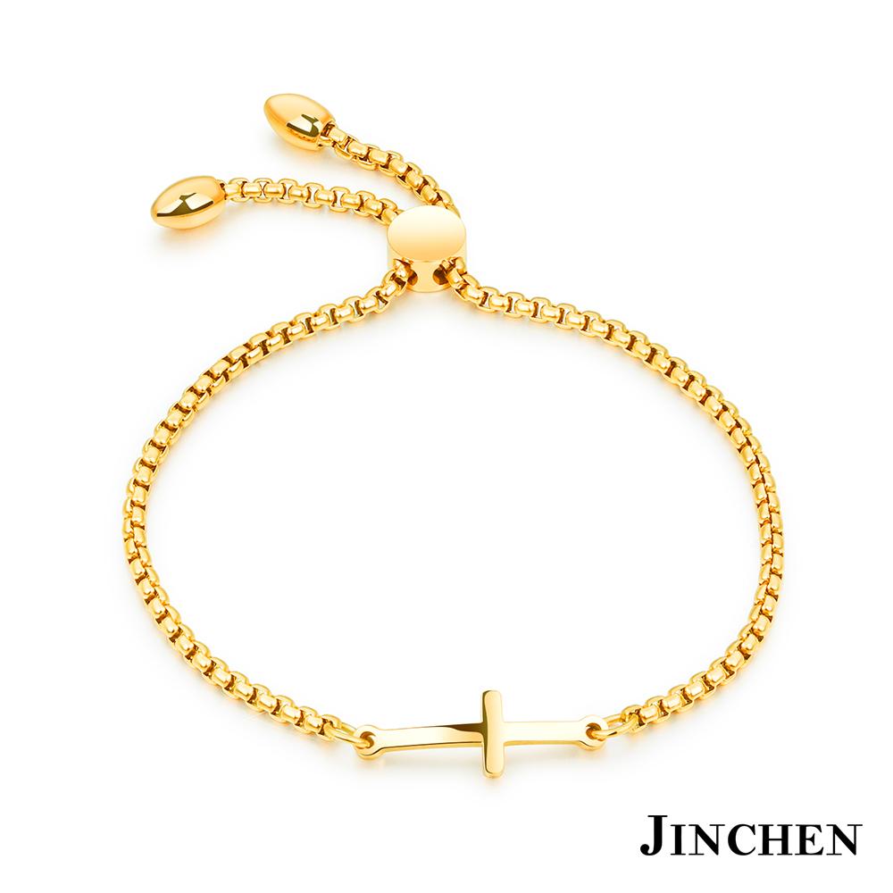 JINCHEN 白鋼祈福十字架手鍊 product image 1