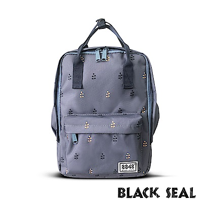 BLACK SEAL 聯名8848系列-多隔層休閒小方型後背包-深藍BS83008