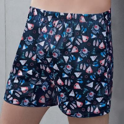 DAYNEER 寬鬆舒活 印地安印花寬鬆四角內褲(希臘藍)