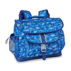美國Bixbee - 彩印系列藍海群鯊大童輕量舒壓背書包