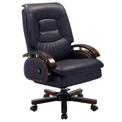Bernice-黑色半牛主管椅