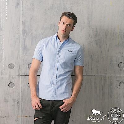 ROUSH 基本款牛津布短袖襯衫 (5色)