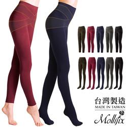 任選3件Mollifix-恆溫美型提拉翹臀奈米刷毛塑型褲-襪組