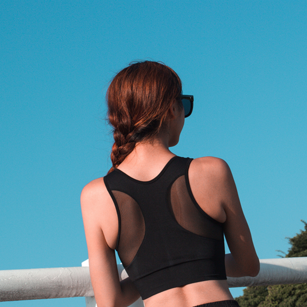 Biki比基尼妮泳衣   後雙月網紗泳衣比基尼(單上衣)
