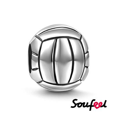 SOUFEEL索菲爾 925純銀珠飾 排球 串珠