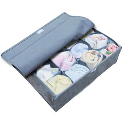 iSFun 竹炭纖維 16格附蓋內衣小物收納盒11L 33x26x11cm