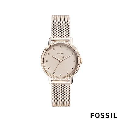 FOSSIL NEELY 華麗風範晶鑽女錶-米蘭流沙金 約34mm ES4364