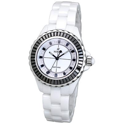 MIRRO 炫光彩晶鑽陶瓷錶-黑